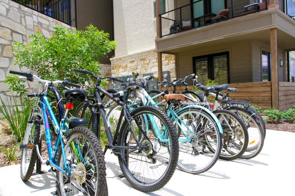 Bikes at Axis at The Rim in San Antonio, Texas