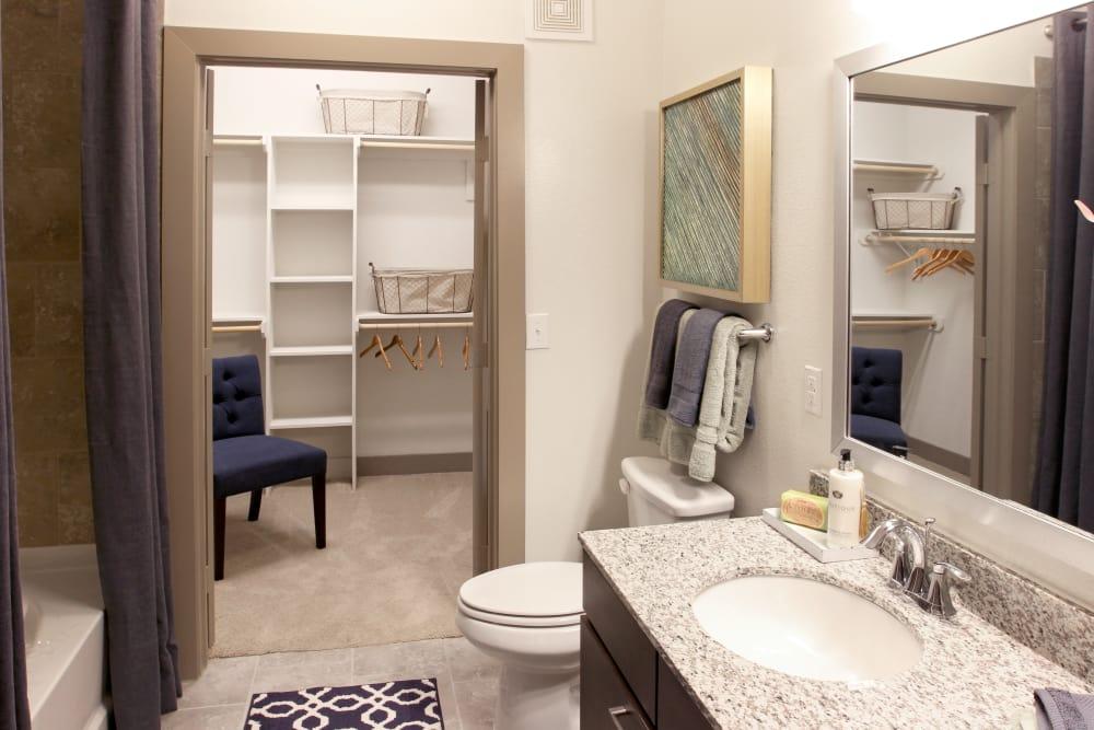Bathroom at Axis at The Rim in San Antonio, Texas