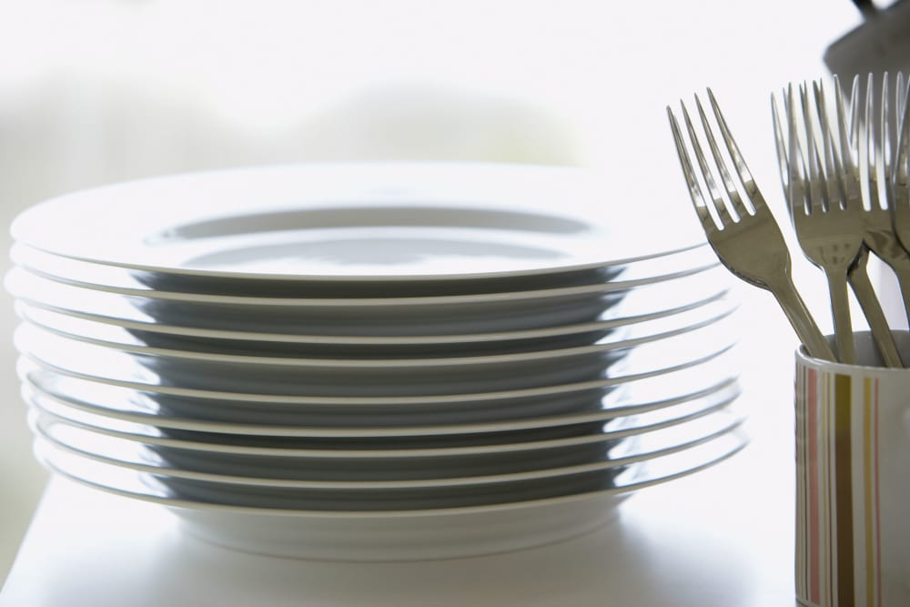 Dinnerware and silverware available at CWS Home Services