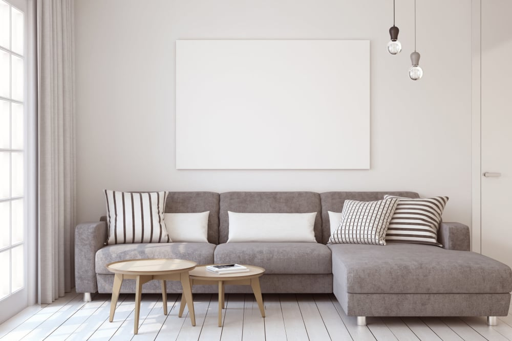Living room set at CWS Home Services