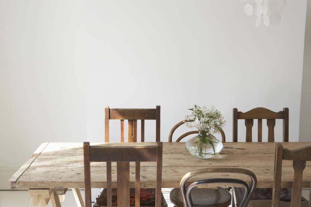 Dining table in a CWS Home Services home