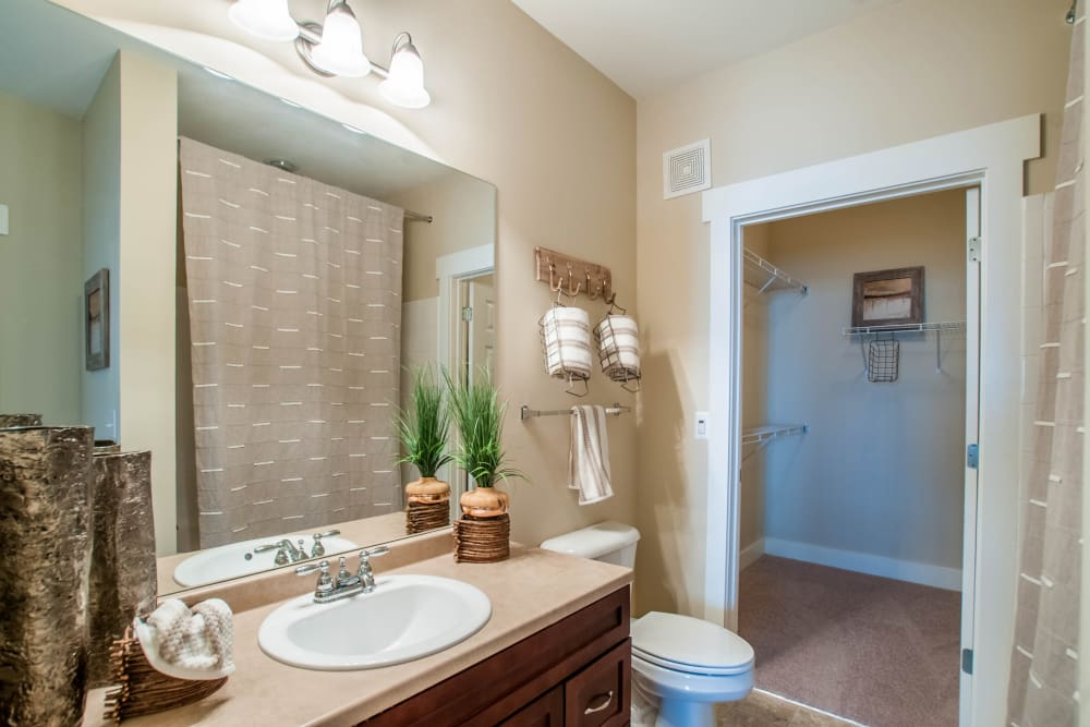 Bathroom at Panther Riverside Parc Apartments in Atlanta, GA
