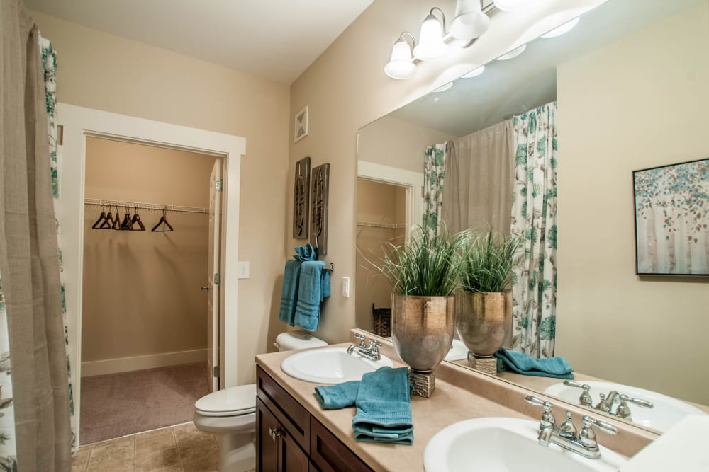 Spacious bathroom at Panther Riverside Parc Apartments in Atlanta, GA