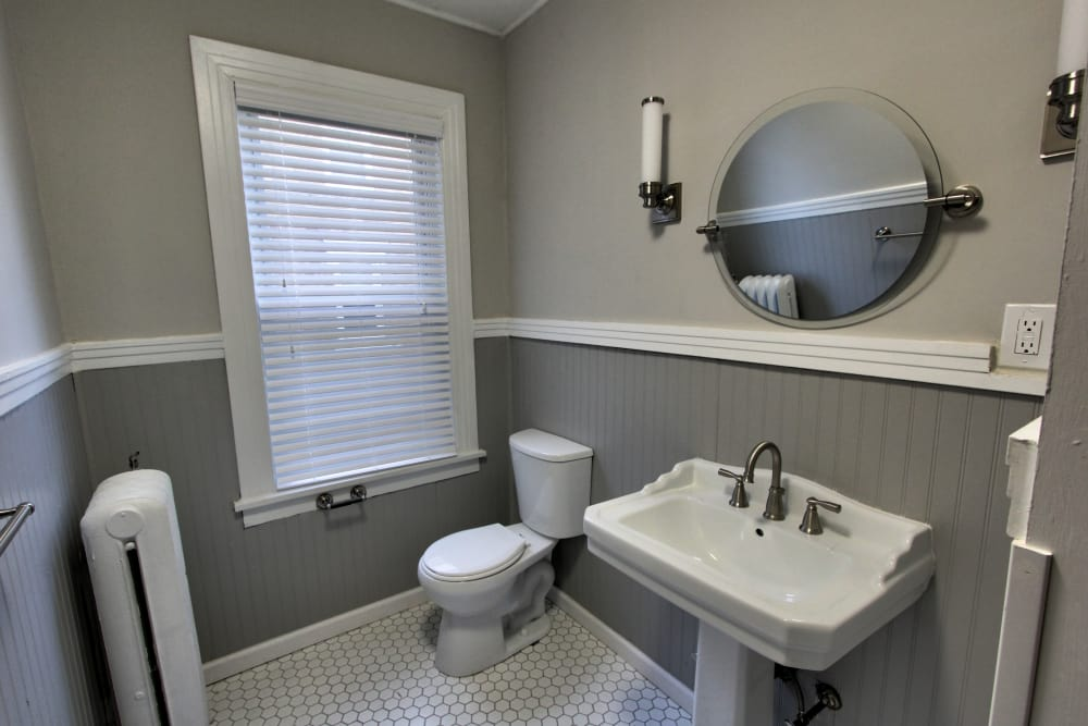Another angle of our bathrooms at our apartments in West Hartford, CT