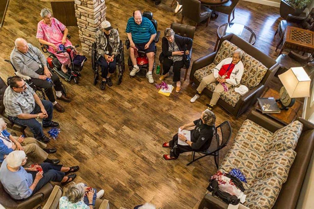 Park Wood Retirement Community's life enrichment program engages residents.