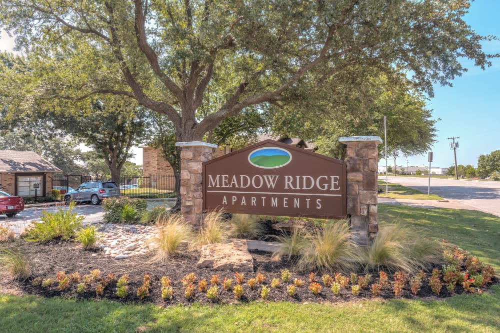 Front sign at Meadow Ridge