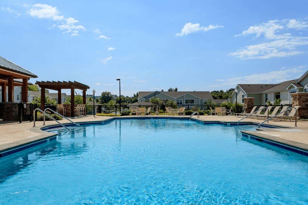 Swimming pool at Huntsville Parc Apartment Homes in Huntsville, AL