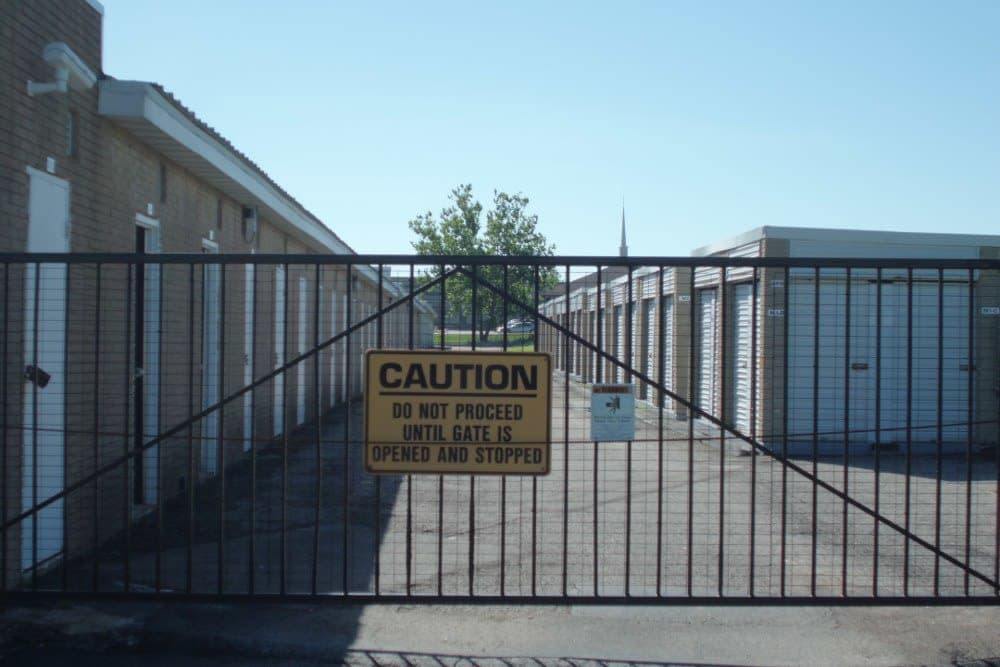Gated entry at A Storage Inn - St. Louis Lemay Ferry