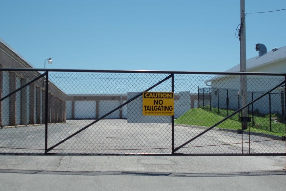 Gated entry at A Storage Inn - Highway 94