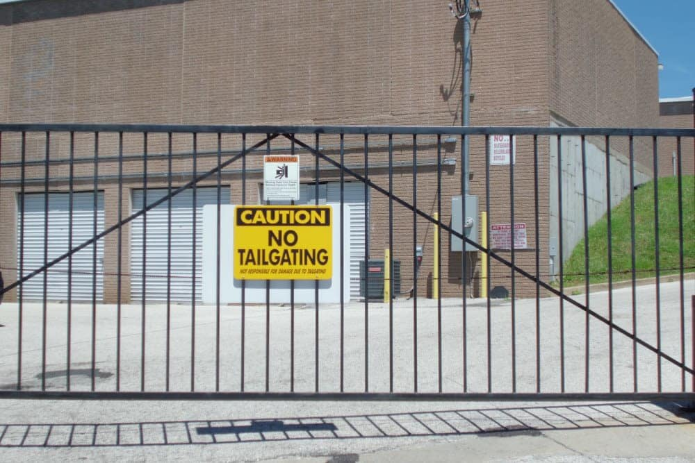 Gated entry at A Storage Inn - Ellisville