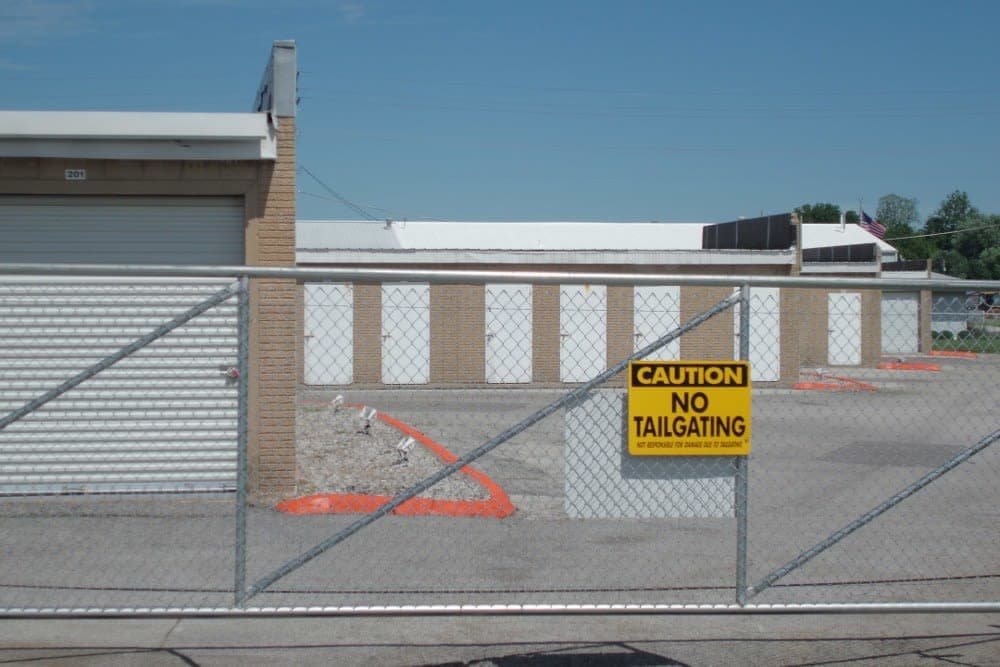 Gated entry at A Storage Inn - O'Fallon