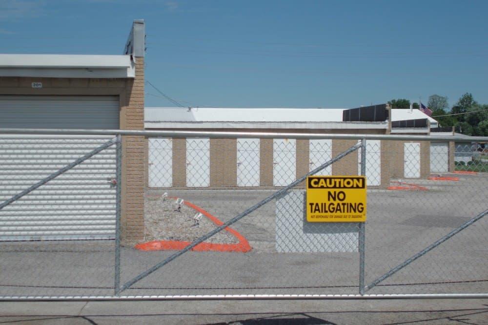 Gated entry at A Storage Inn - O'Fallon