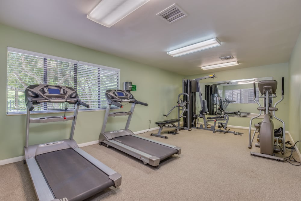 Modern fitness center at Cypress Cove in Jacksonville, Florida