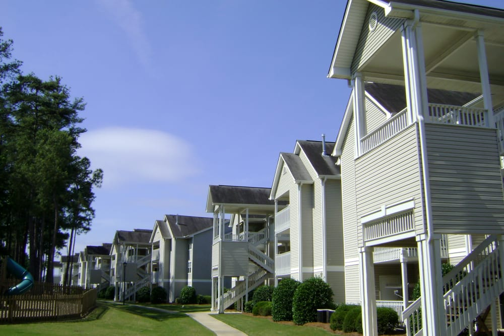 Exterior of our apartments in Columbia, South Carolina