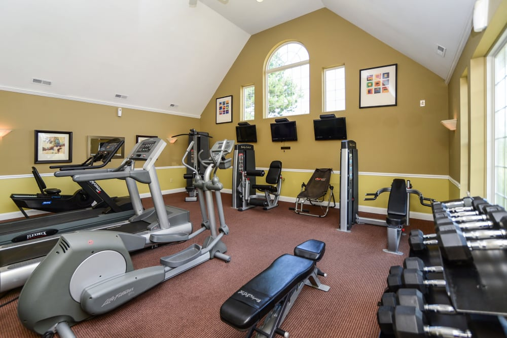Abrams Run Apartment Homes offers a fitness center in King of Prussia, PA