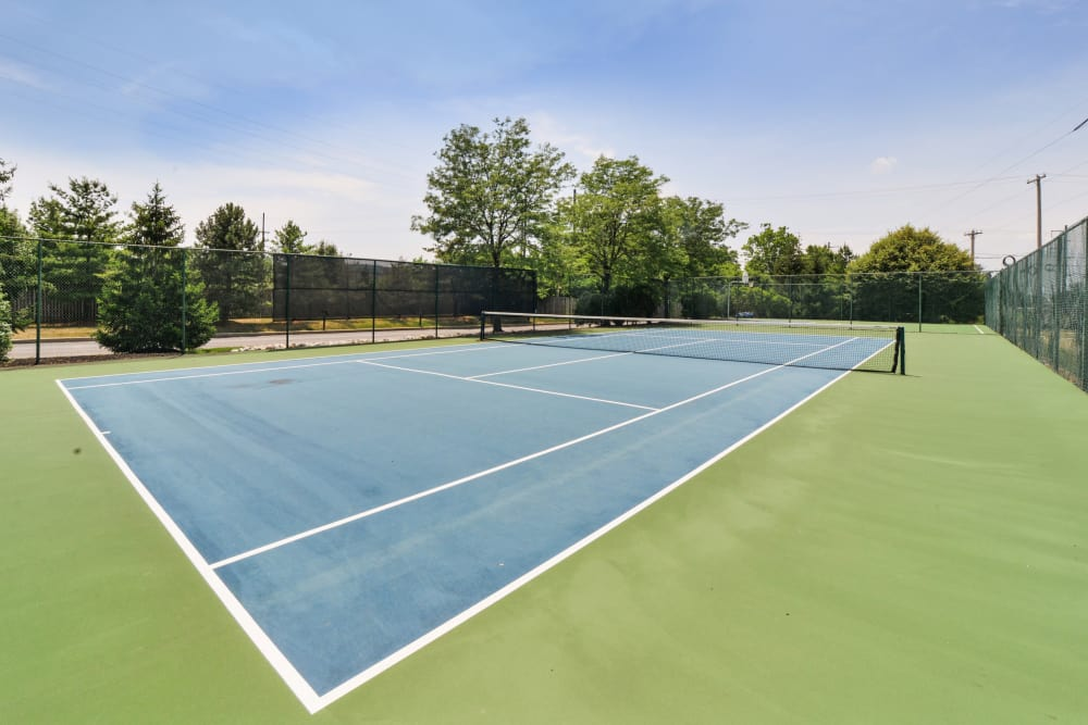 Abrams Run Apartment Homes offers a tennis court in King of Prussia, PA