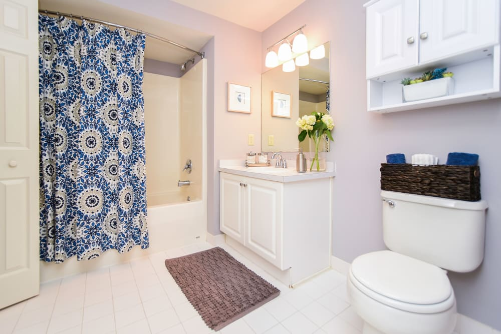 Bathroom at apartments in King of Prussia, PA