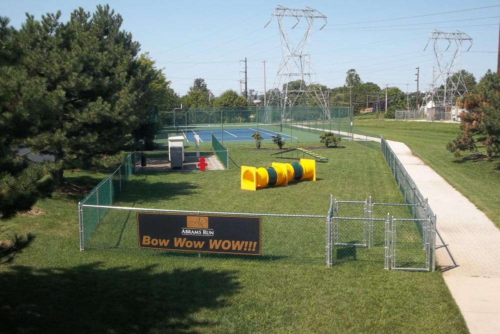 Abrams Run Apartment Homes offers a dog park in King of Prussia, PA