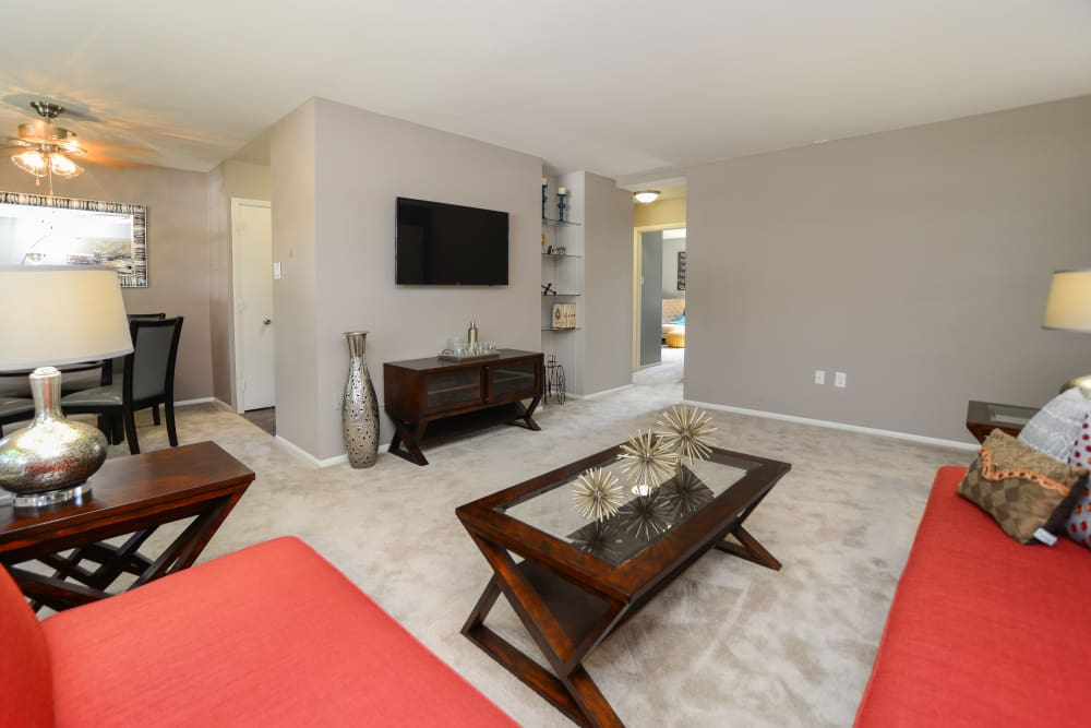 Living room at Camp Hill Apartment Homes in Camp Hill, PA