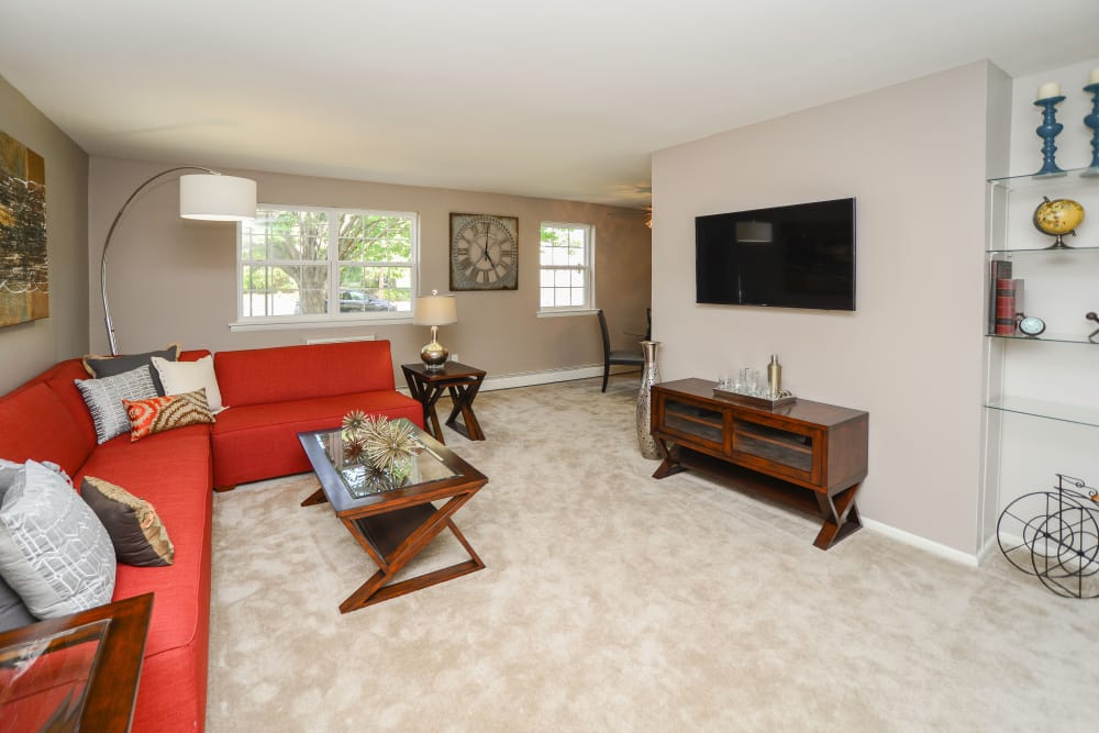 Camp Hill Apartment Homes offers a beautiful living room in Camp Hill, PA