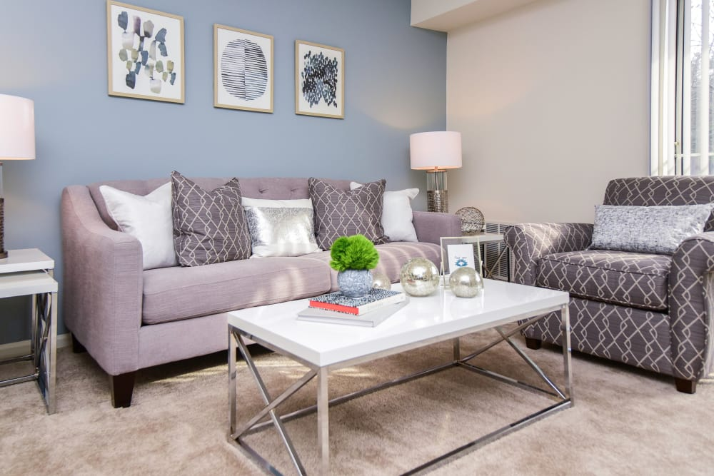 Abrams Run Apartment Homes offers a living room in King of Prussia, PA