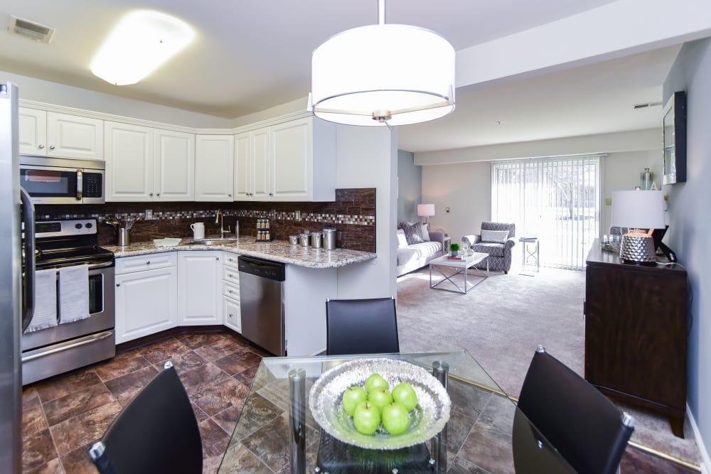Naturally well-lit apartment interior at Abrams Run Apartment Homes in King of Prussia, PA