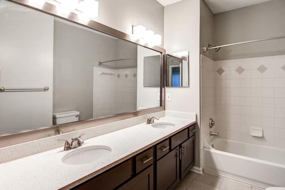 Bathroom at Jefferson at Perimeter Apartments