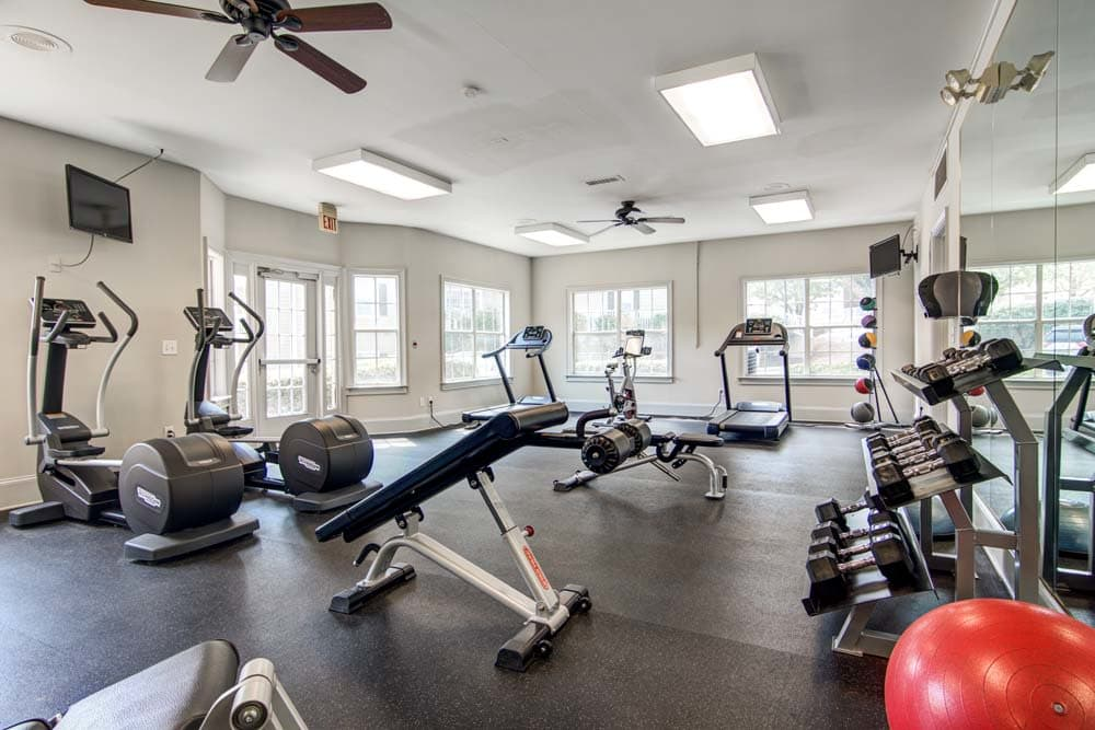 Gym at Jefferson at Perimeter Apartments