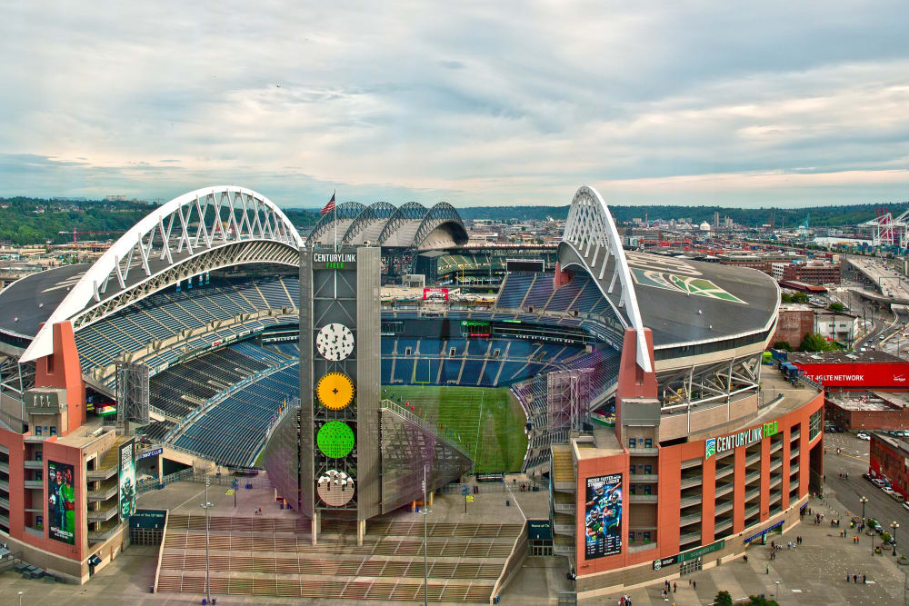 Aerial view of Seattle, Washington from The Nolo at Stadium Place