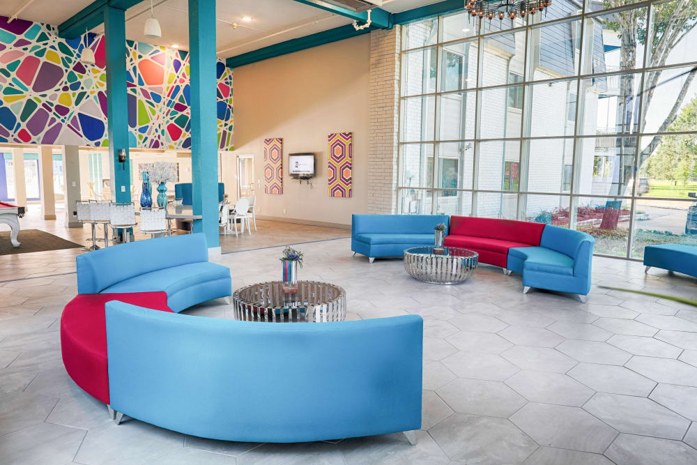 Houston apartments includes an entertainment space