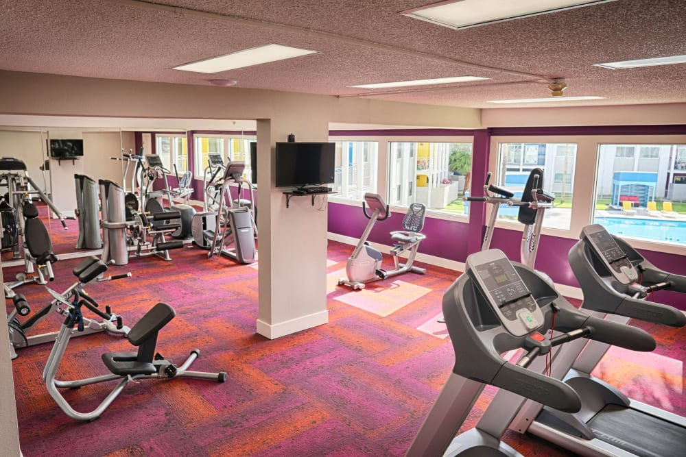 Stay healthy in our well equipped fitness center at The Sapphire at Nassau Bay