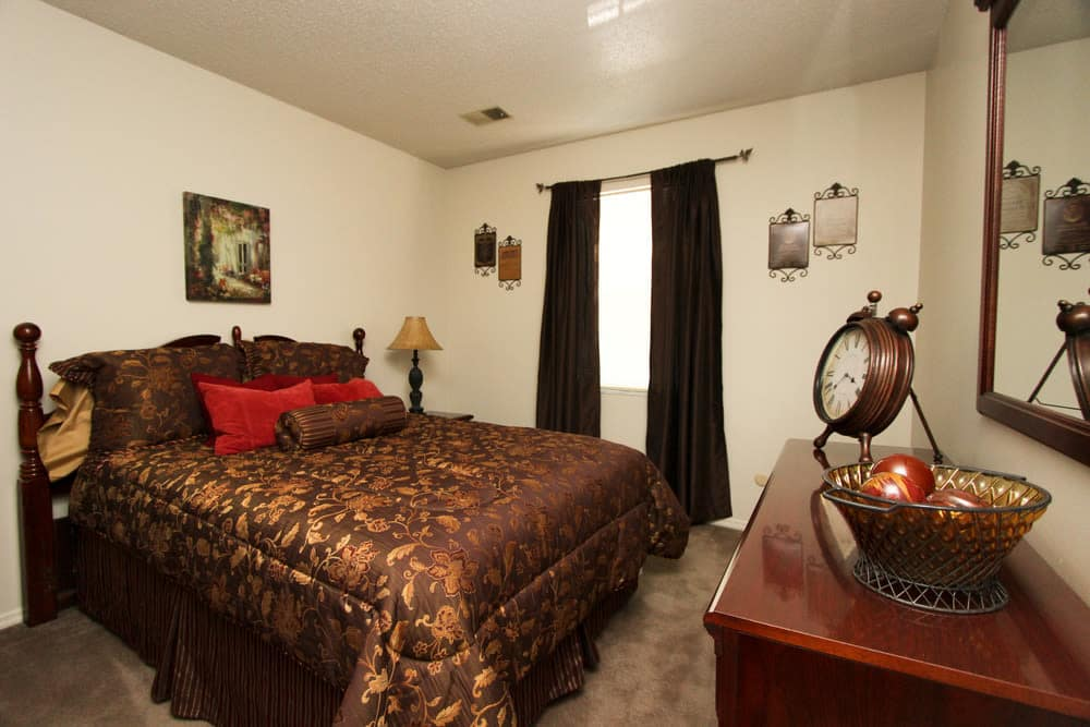 Our apartments in Evansville, Indiana have a cozy bedroom