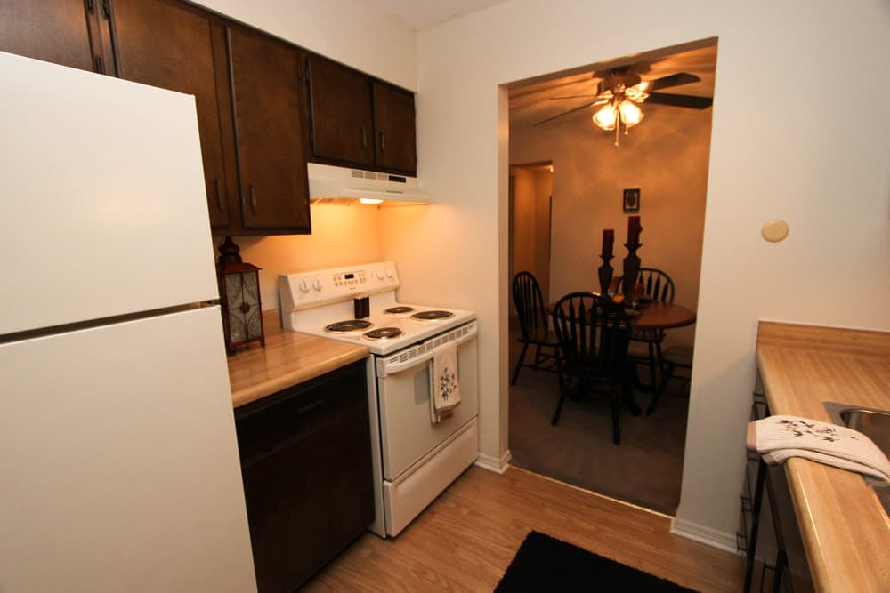 Enjoy apartments with a kitchen at Village Green