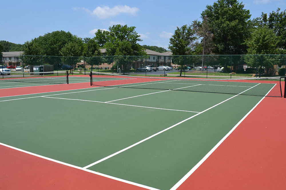 Tennis court at Village Green Apartments in Evansville, IN