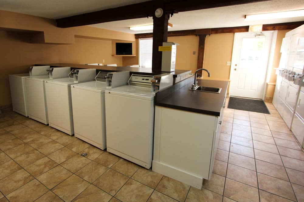 Spacious laundry facility at apartments in Evansville, Indiana