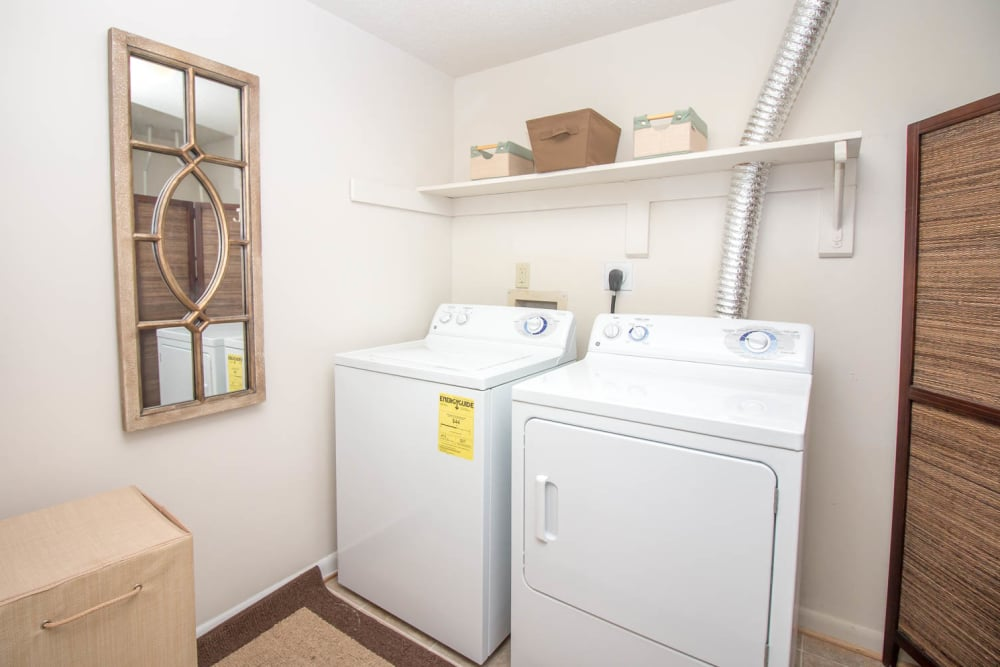 River Park Tower Apartment Homes offers a washer and dryer machine in Newport News, VA