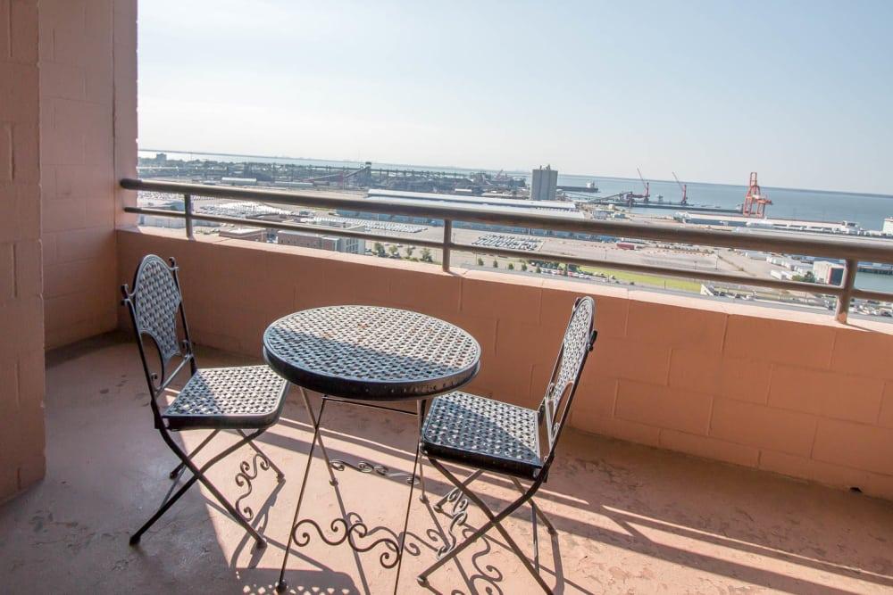 Balcony at River Park Tower Apartment Homes in Newport News, VA
