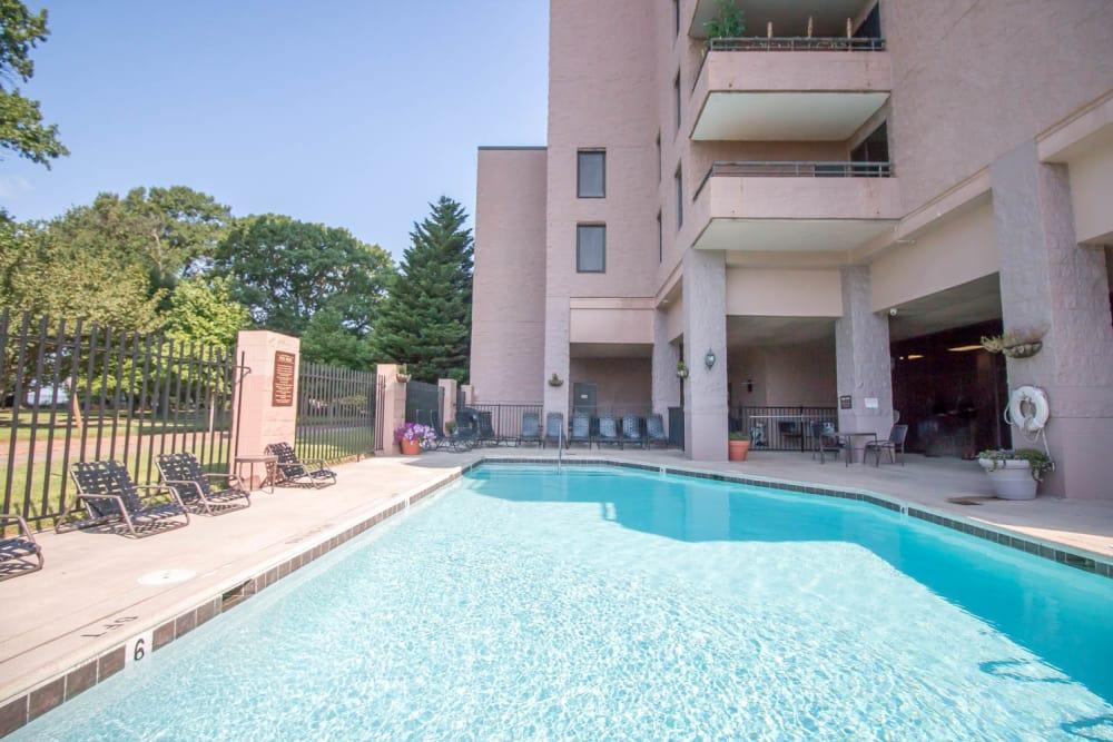 Swimming pool at apartments in Newport News, VA
