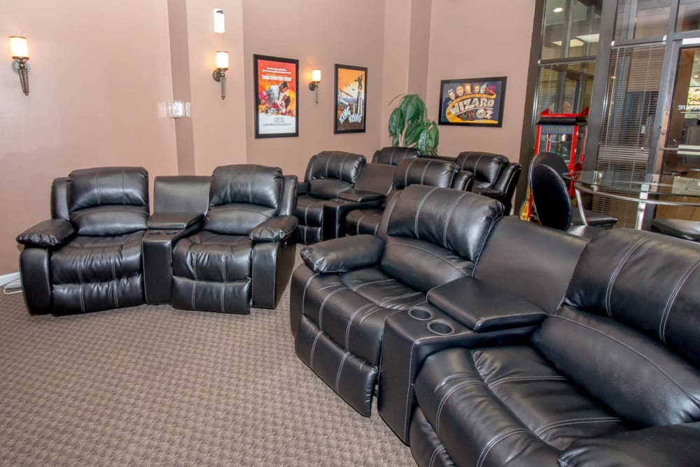 Comfy couches at River Park Tower Apartment Homes in Newport News, VA
