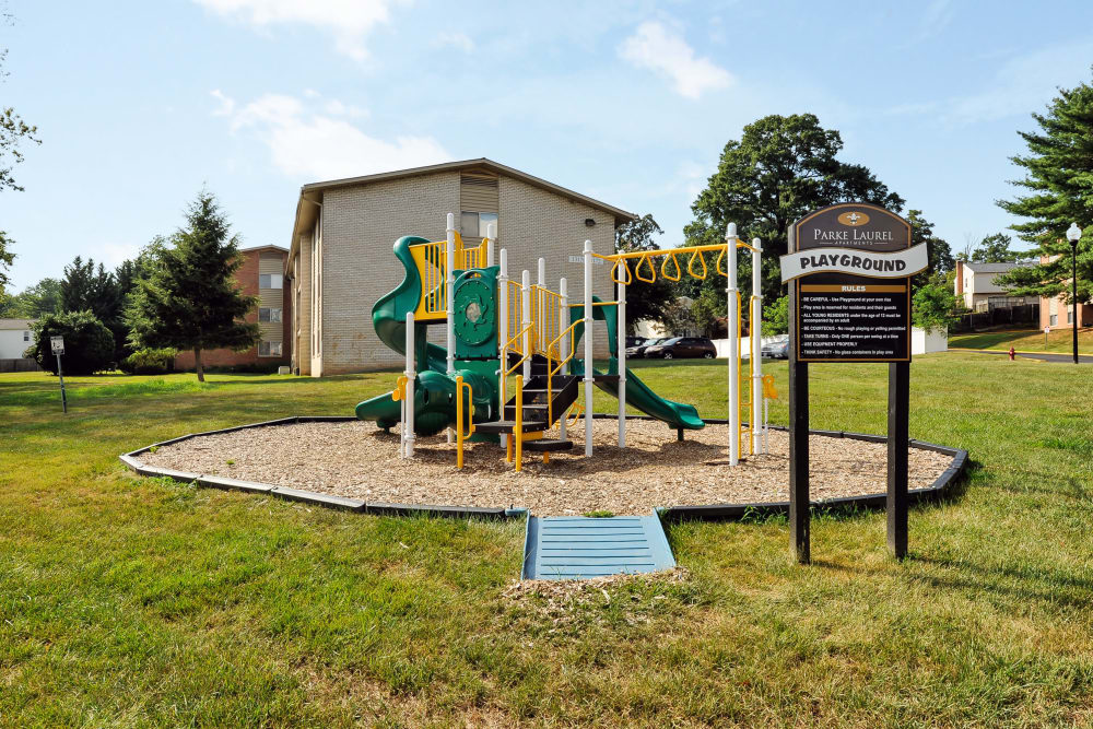 Parke Laurel Apartment Homes offers a playground in Laurel, MD