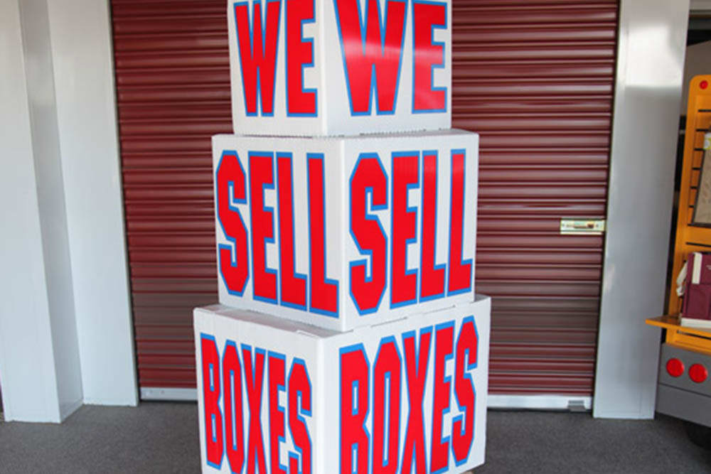 Boxes sold at STORBOX Self Storage in Pasadena, California