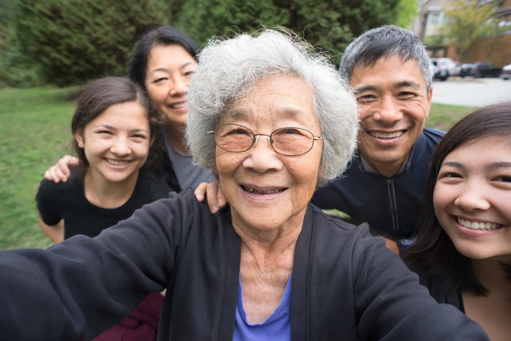 Comfort Residence resident with her family!
