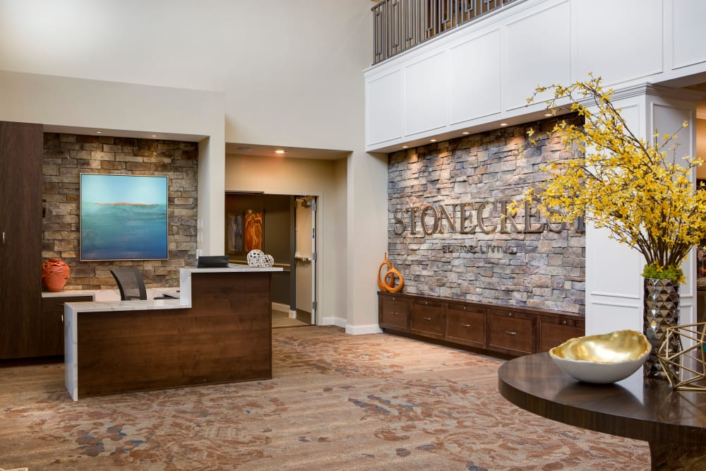 Front desk at Stonecrest at Burlington Creek in Kansas City