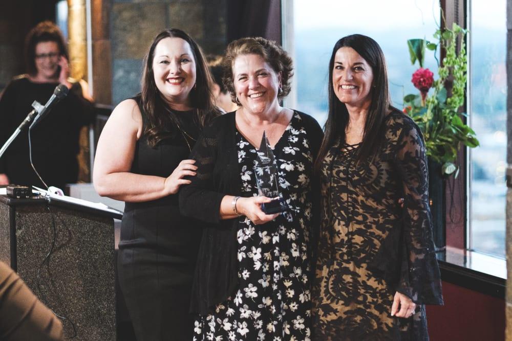 Nita Collins at Flower Mound accepting award