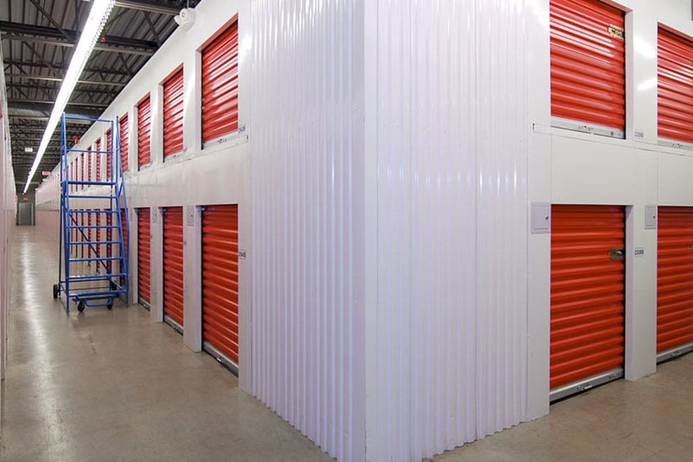 Clean interior storage units at U-Lock Mini Storage in Burnaby, British Columbia
