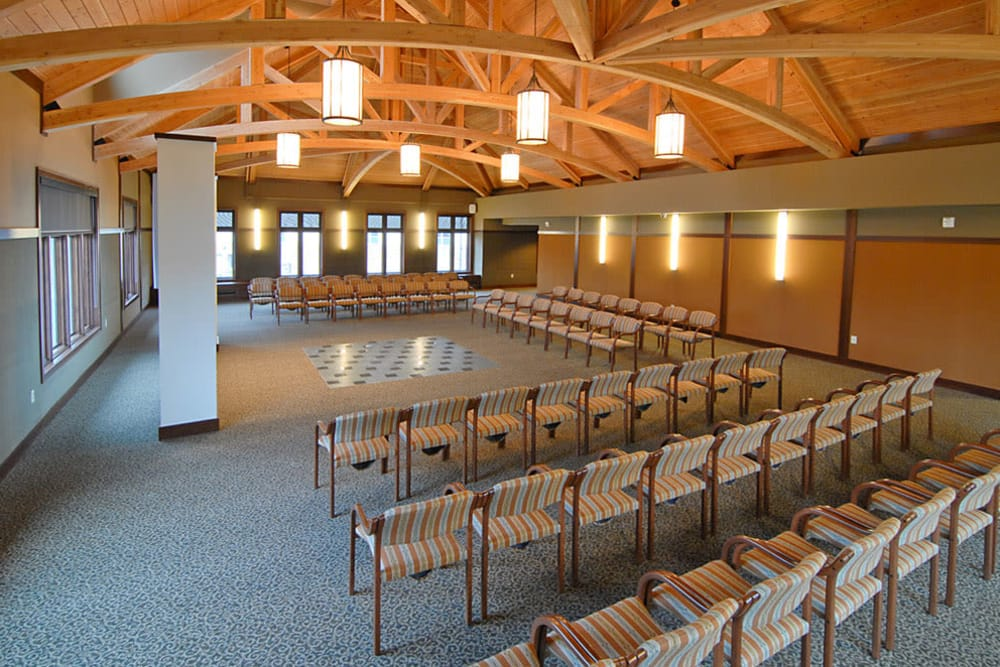 The spacious chapel at The Glenn Minnetonka