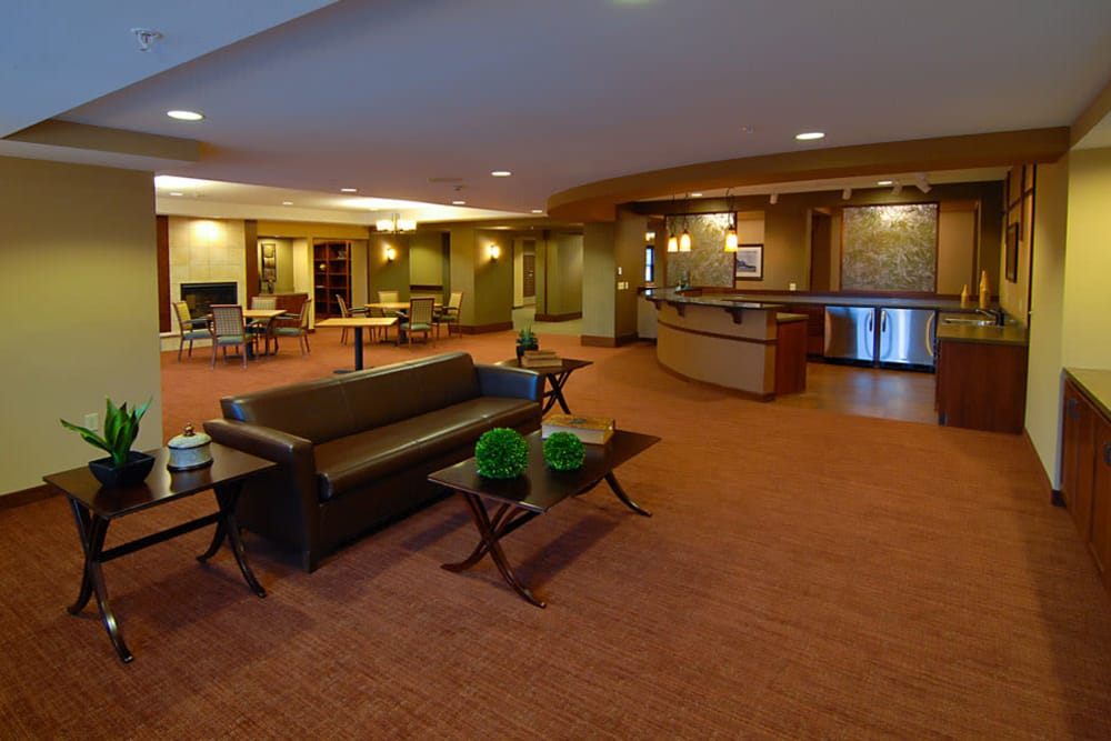Club room at The Glenn Minnetonka