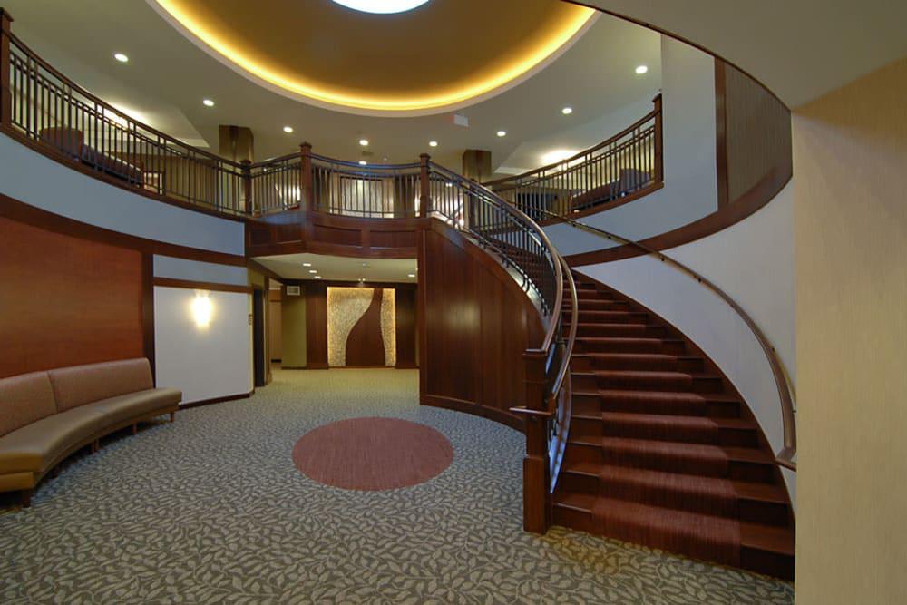 A handsome stairwell at The Glenn Minnetonka