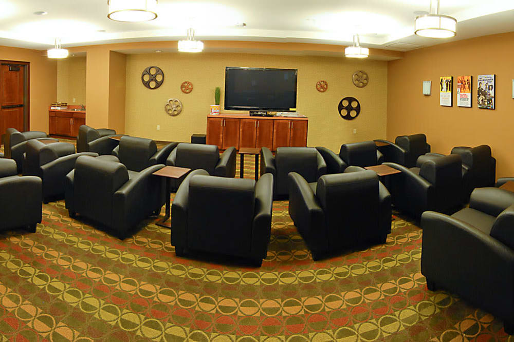 A comfy theater at The Glenn Minnetonka