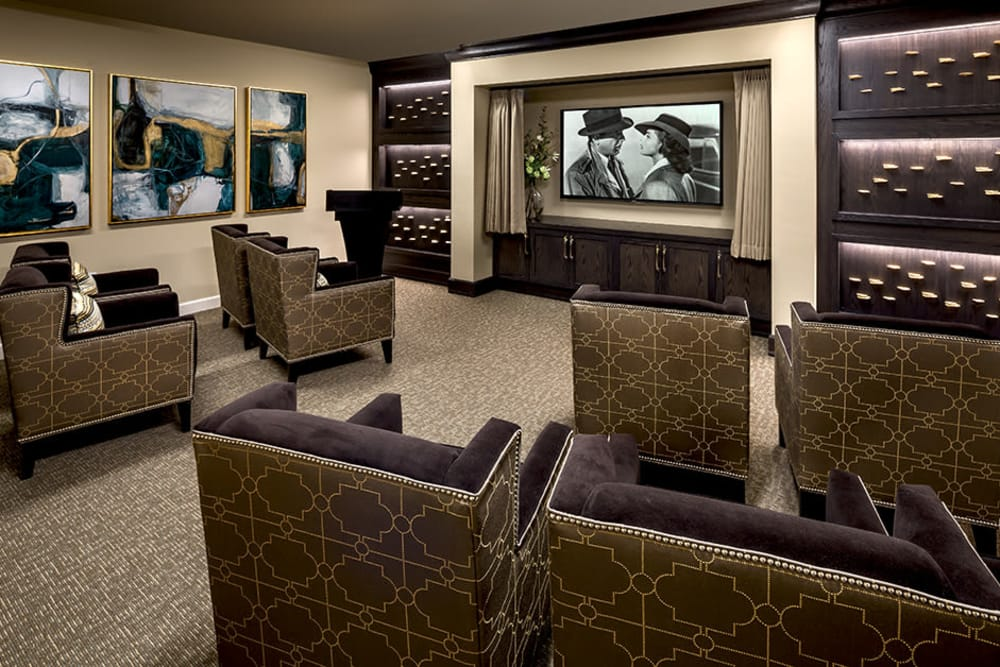 Theater room at Azpira Place of Lake Zurich